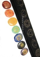 Picture of Thymus Chakra set with velvet purse