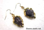 Picture of Amethyst Eletroplated Arrowhead Earrings