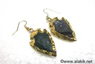 Picture of Black Obsidian Eletroplated Arrowhead Earringss