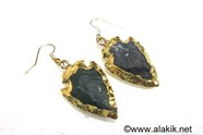 Picture of Bloodstone Eletroplated Arrowhead Earrings