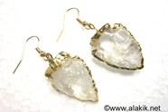 Picture of Crystal Quartz Eletroplated Arrowhead Earrings
