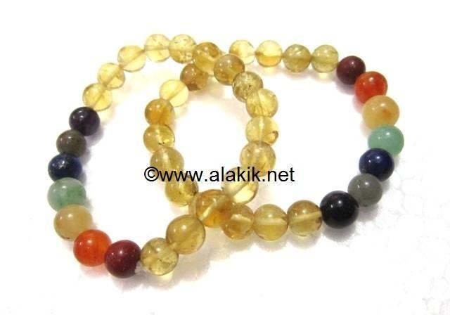Crystal 7 chakra beads elastic bracelets