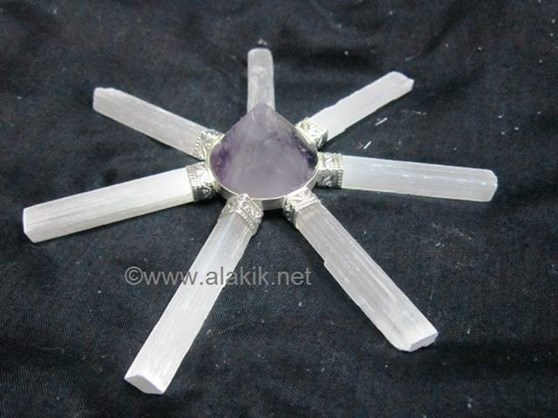 Picture of Amethyst 7pcs Selenite Generator