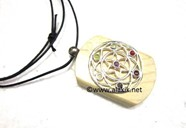 Picture of Chakra Flower of Life Wooden Pendant