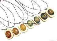 Picture of Chakra Engrave Oval Wooden Pendant Set