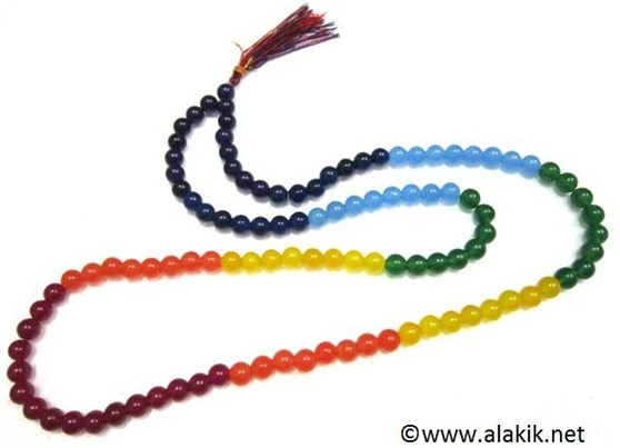 Picture of 7 Chakra Onyx 8mm Japa Mala