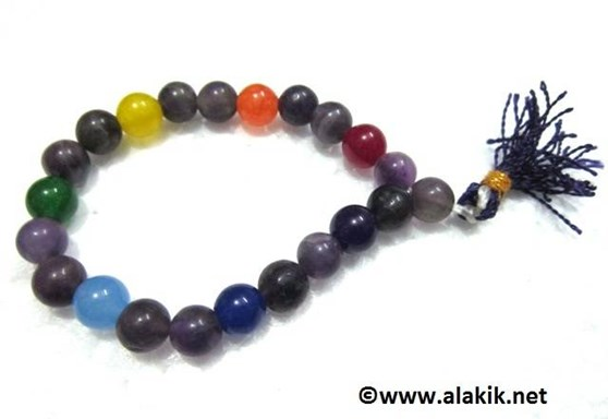 Picture of Amethyst Chakra Beads Power Bracelet