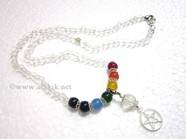 Picture of Crystal Beads Chakra Penctacle Star Necklace