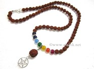 Picture of Rudraksha Chakra Penctacle Star Necklace