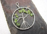 Picture of Peridot Tree of Life Pendant