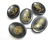 Picture of Black Tourmaline 5pcs Usai Worrystone SEt