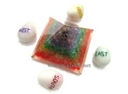 Picture of Orgone Chakra Pyramids with Reiki Direction Stones