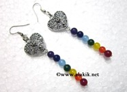 Picture of Chakra Onxy Earring with Connecting Heart