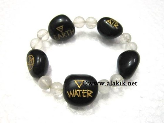 Picture of 5 element bracelet with crystal beads
