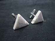 Picture of Howalite triangle cufflinks