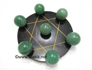 Picture of Pentagram Grid Disc with Green Aventurine Balls