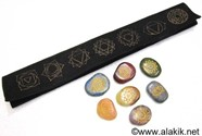 Picture of Simple Chakra Set with Velvet Purse