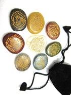 Picture of Ananta 8 chakra Stone Set with pouch