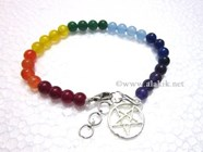 Picture of Chakra Beaded Anklet with Pentacle
