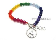 Picture of Chakra Beaded Anklet with YinYan Charm