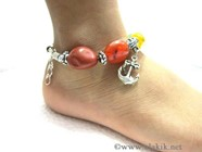 Picture of Chakra Tumble Anklet with charms