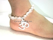 Picture of Crystal Quartz Anklet with Om Charm