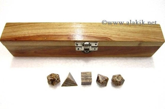 Picture of Aragonite 5pcs Geometry set with box