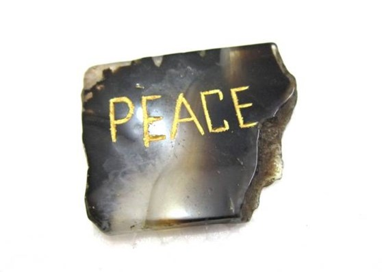 Picture of Agate Onyx Peace Pocket Stone