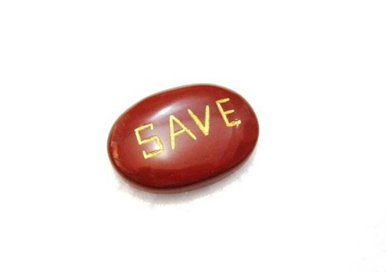 Picture of Red Jasper SAVE Pocket Stone