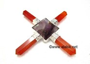 Picture of Red Cornelian Amethyst Pyramid Generator