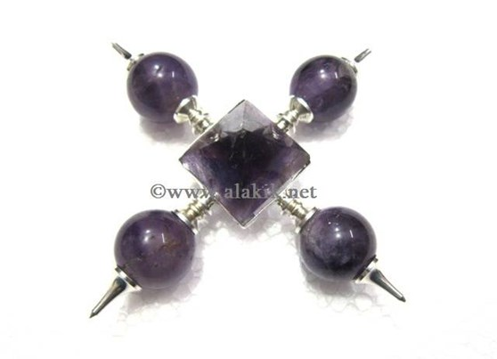 Picture of Amethyst Ball Generator with Amethyst Pyramid