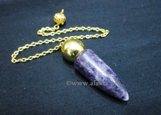 Picture of Amethyst Bullet  Golden Modular Pendulum