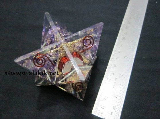 Picture of Amethyst Orgone Big Size Merkaba Star