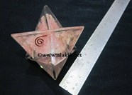 Picture of Rose Quartz Orgone Big Size Merkaba Star
