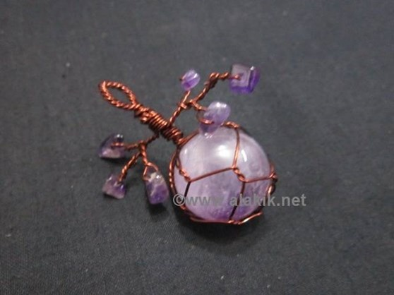 Picture of Amethyst Ball Cherry Pendant