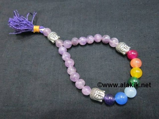Picture of Amethyst Chakra 3Buddha Power Braclet