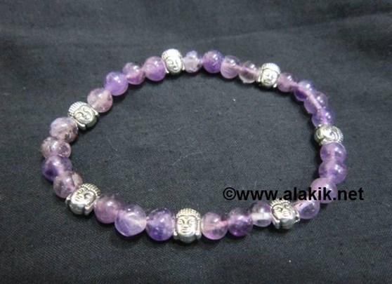 Picture of Amethyst Baby Buddha Bracelet