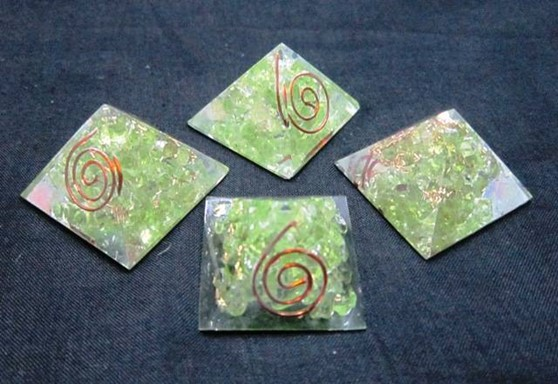 Picture of Baby Orgone Peridot Pyramid
