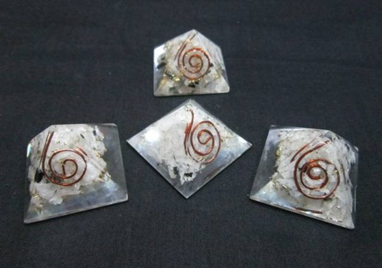 Picture of Baby Orgone Rainbow Moonstone Pyramid