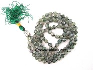 Picture of Moss Agate Netted Buddha Jap Mala