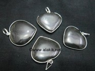 Picture of Black Agate Heart Shape Ring Pendant