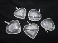 Picture of Crystal Quartz Heart Shape Ring Pendant