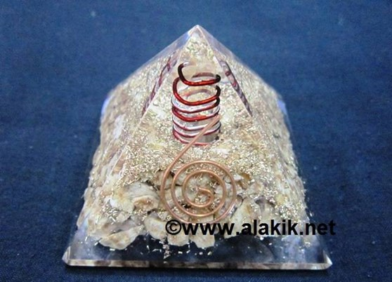 Picture of Aragonite Orgone Pyramid With Copper Coil