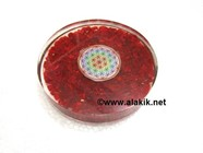 Picture of Red Jasper Orgone Coasters