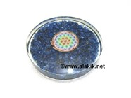 Picture of Blue Dyed Chips orgone Coasters