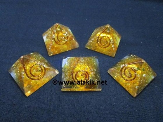 Picture of Amber Baby Orgone Pyramid