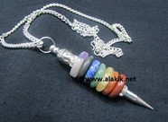 Picture of Chakra Donut Necklace with Buddha diamond ring chakra chain