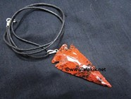 Picture of Mahogany Obsidian 2inch Arrowheads necklace
