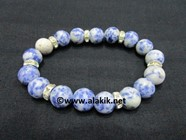 Picture of Sodalite 10mm Bracelet with Diamond Ring