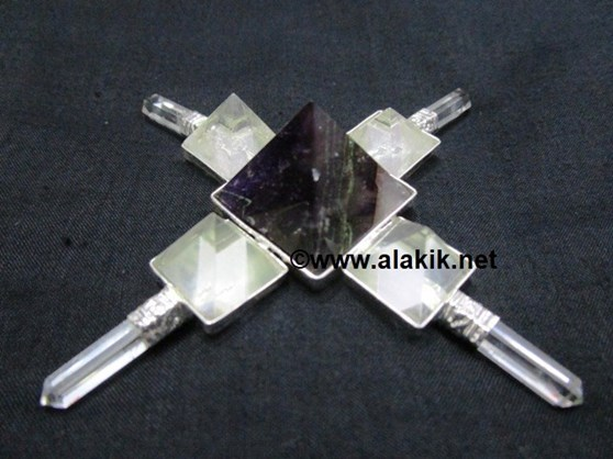Picture of Amethyst Crystal Quartz Dual Pyramid Healing Energy Generator